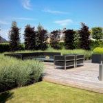 Moderne tuin - Luxe lounge hoek op vlonder