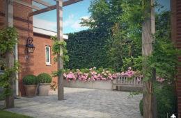 Middelgrote kempische tuin in Barendrecht