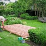 Frame werk voor tuinhuis