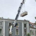 Materialen aanvoer dakterras Gouda - Binnenstad Gouda Utrecht